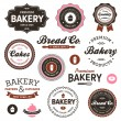 Vintage bakery labels - 图库矢量图片