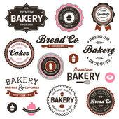 Piekarnia wzór etykiety — Wektor stockowy