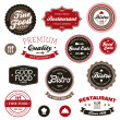 Stock Vector: Vintage restaurant labels