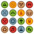 Stock Vector: Merit badges