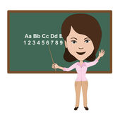 Teacher — Stock Vector