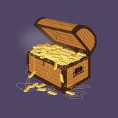 宝箱 — ストックベクタ