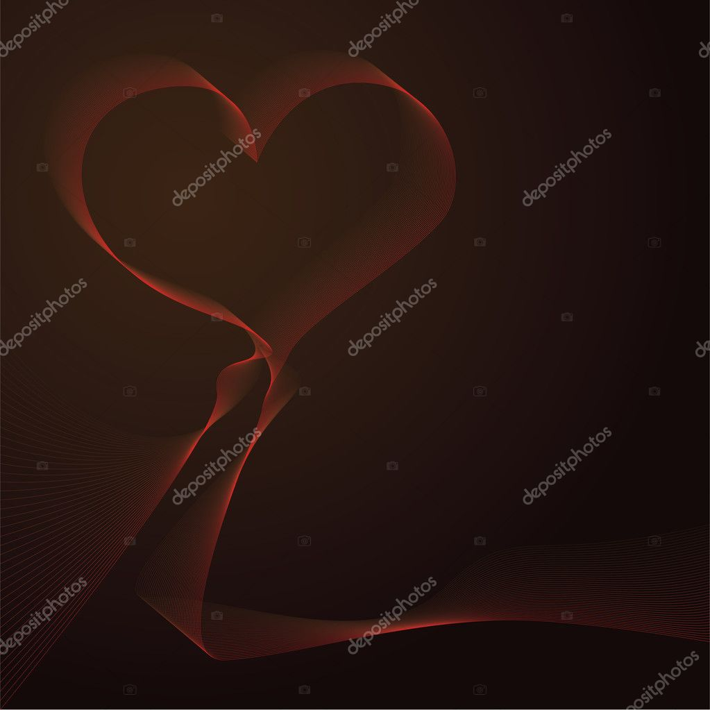 Conceptual illustration of abstract heart-shaped background. Saved as eps10 vector filetype.  Stock Vector #8634449