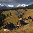 The herdsmens huts - Stock Photo