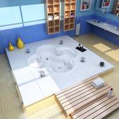роскошная современная ванная — Стоковое фото