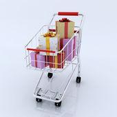 Gift shopping — Stock Photo