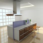 3d moderne küche — Stockfoto