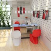 Modern yemek odası — Stok fotoğraf