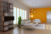 3d render modern living room — Stock Photo