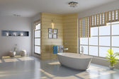 3d render interior of modern bathroom — Stock Photo