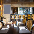 Luxury restaurant interior with modern style - Zdjęcie stockowe