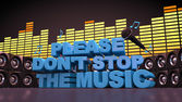 Don't Stop the music — Stockfoto