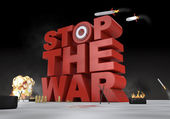 Stop the war — Stock Photo