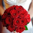 Brides red roses. — Stock Photo #7981574