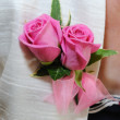 Mothers pink corsage. — Stock Photo