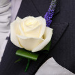Grooms buttonhole at wedding — Stock Photo