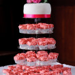 Pink cup cakes at wedding — Stock Photo