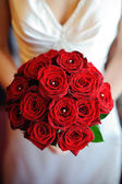 Brides red roses. — Stock Photo