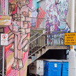 Стоковое фото: Rubbish Bins in Colourful Setting in Bristol UK