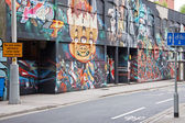 Inner City Street Graffiti UK — 图库照片
