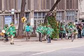 Jack in the Green procession through Bristol UK — Stock Photo