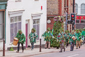 Jack in the Green parade in the centre of Bristol UK — Stock Photo