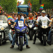 Gay Parade Motorcycle Vanguard — Stock Photo