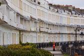 Georgian Terrace with Postbox — Stock Photo