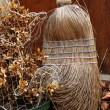 Broom and Sweepings — Stock Photo