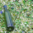 Bottle on Smashed Glass — Stock Photo