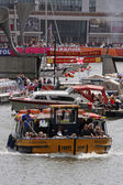 Busy Harbour at Festival Time — Stock Photo