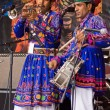 Indian Musicians on Stage in Bristol - Stock Photo