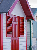Pláž chata — Stock fotografie