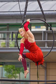Aerial Performer 2 — Stock Photo