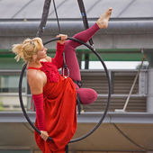 Aerial Performer 1 — Stock Photo