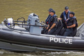 Waterborne Police Patrol — Stock Photo