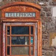 Disused Phone Box in UK - Stock Photo