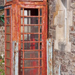 Stock Photo: Derelict Phone Box in UK