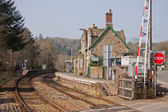 Rural Railway Station in mid Devon UK — Stock Photo