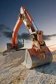 Escavador de construção — Fotografia Stock