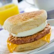 Sausage Egg Muffin — 图库照片