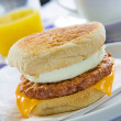 Sausage Egg Muffin — Stock Photo