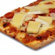 Stock Photo: Pizza with french brie cheese