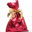 Red sack for a gift — Stock Photo