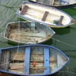 Old fishing boats on ropes — Stock Photo #7961402