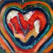 Heartpainting — Stock Photo