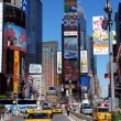 Times square med yellow cabs — Stockfoto