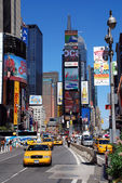 Times Square with yellow cabs — Stok fotoğraf