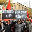 Occupy protest - stand up for your rights — Stock Photo