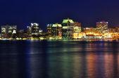 Halifax Nova Scotia at night — Stock Photo